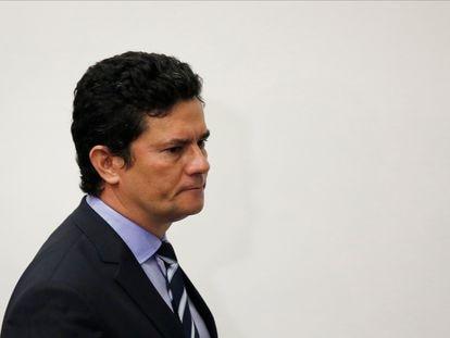 Sergio Moro, durante la conferencia de prensa de este viernes en Brasilia.