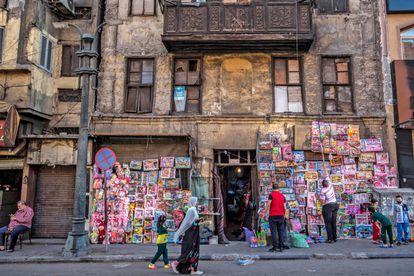 Tienda de juguetes en la capital egipcia de El Cairo.