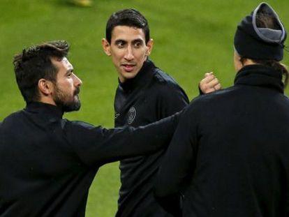 Di Maria, Lavezzi e Ibrahimovic en el Bernabéu. / Foto: REUTERS/ Vídeo: ATLAS