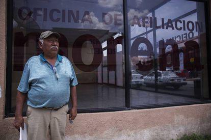 José González, militante de Morena en Atlacomulco.