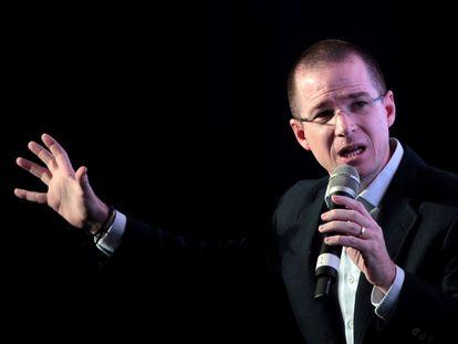 El excandidato panista a la presidencia Ricardo Anaya, en un acto en 2018.