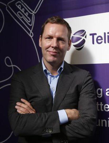 El consejero delegado de TeliaSonera, Johan Dennelind, en Barcelona.
