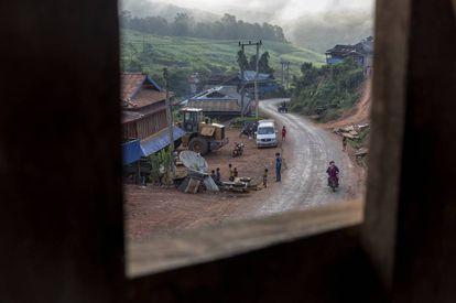 Vista de la aldea de Phapounkao, en la provincia de Phongsaly, al norte de Laos.