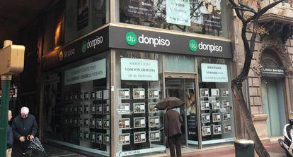 Oficina de la enseña Don Piso, con 47 tiendas franquiciadas en España.