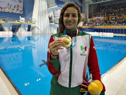 La clavadista mexicana Paola Espinosa, durante los Juegos Panamericanos de 2019.