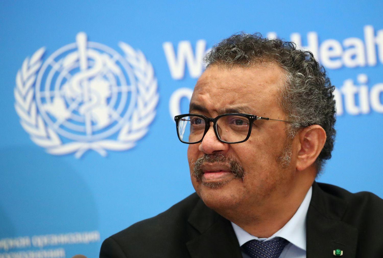 El director general de la Organización Mundial de la Salud, Tedros Adhanom Ghebreyesus, durante una rueda de prensa el 24 de febrero