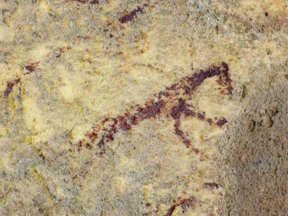 Una de las figuras antropomorfas descubiertas.