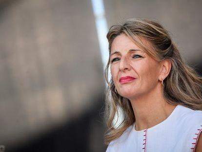 La vicepresidenta segunda del Gobierno y ministra de Trabajo y Economía Social, Yolanda Díaz, la semana pasada.
