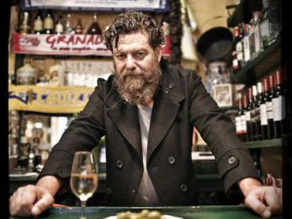 El actor Mario Zorrilla, en la Taberna Sanlúcar.