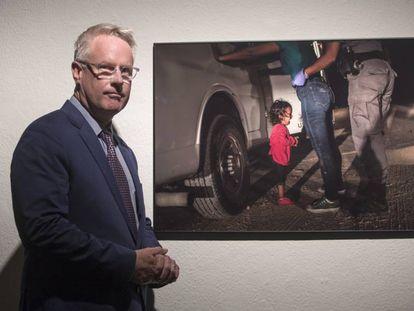 John Moore, autor de la fotografía ganadora de los World Press Photo 2019, durante su visita al CCCB de Barcelona.
