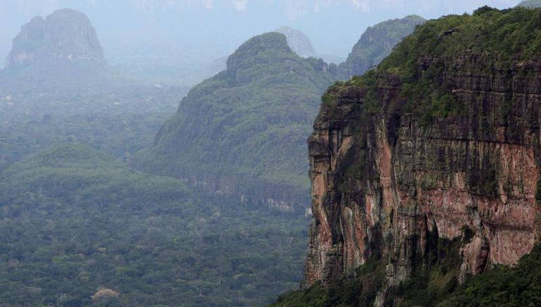 Vista aérea de Chiribiquete, el parque natural más grande de Colombia.