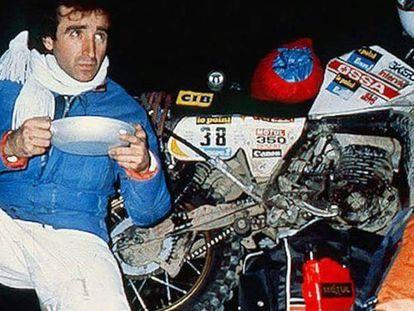 Juan Porcar, en el Dakar de 1982.