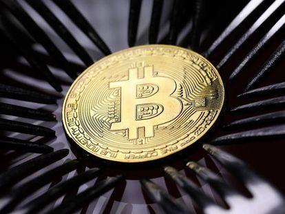 Representación visual del Bitcoin