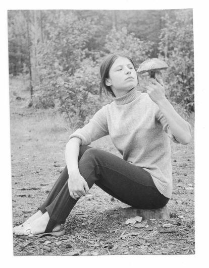 Irene Rouba, en una fotografía de juventud en Polonia.