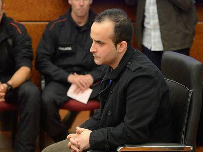 El acusado de asesinar a una bebé de 17 meses en Vitoria, durante el juicio celebrado este miércoles.