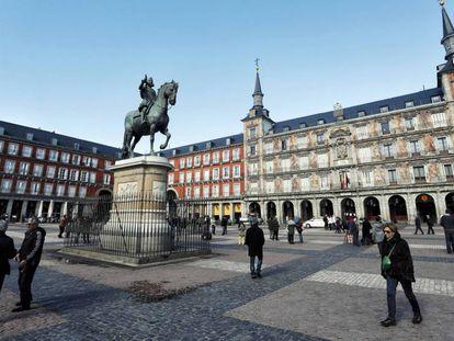 Vista de la Plaza Mayor de Madrid.