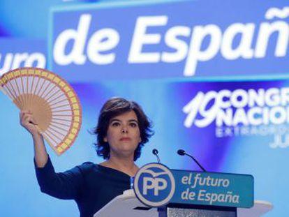 Sáenz de Santamaría hizo toda su carrera en el PP en los 18 años que trabajó como  vicetodo  de Mariano Rajoy