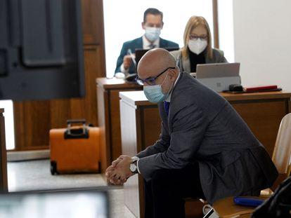 José Manuel López Pérez 'Coté', en el banquillo de la Audiencia Provincial de A Coruña.