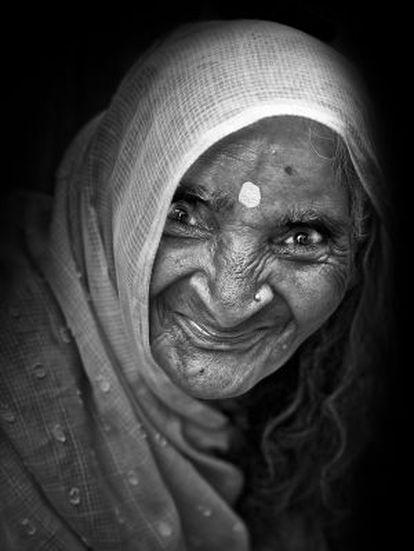 Una de las mujeres de Vrindavan