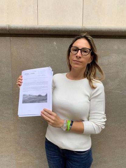 Amparo Cerdà, en una imagen de la cuenta de Twitter de Vox en Elche.