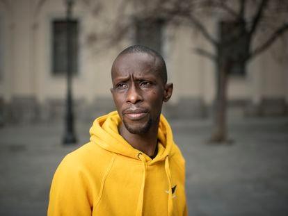 Serigne Mbayé, fotografiado el martes en el centro de Madrid.