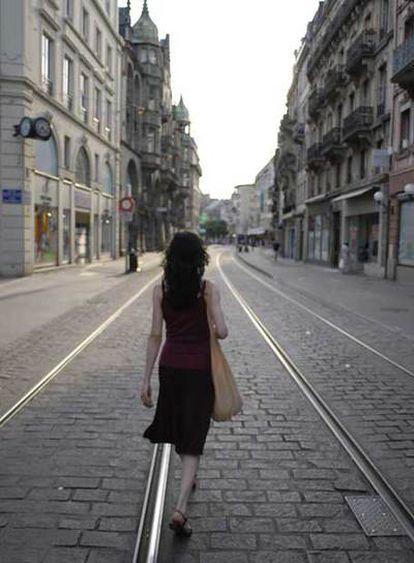 Pilar López de Ayala, en una escena de <i>En la ciudad de Silvia</i>, rodada en Estrasburgo.