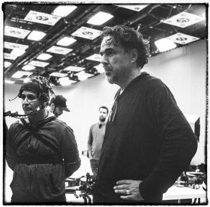 Alejandro González Iñárritu, en el rodaje.