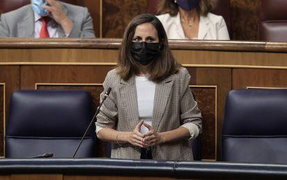 La ministra de Derechos Sociales, Ione Belarra, el pasado miércoles en el Congreso.