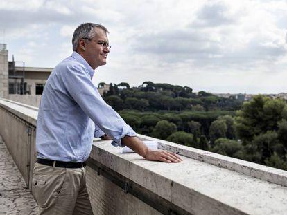 Dominique Burgeon, director de emergencias de la FAO, en la sede de la agencia en Roma (Italia).