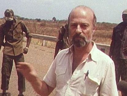 Fernando de Giles en un reportaje en África.