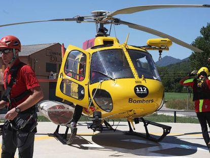 Helicóptero de Bomberos de Cataluña en una imagen de archivo.