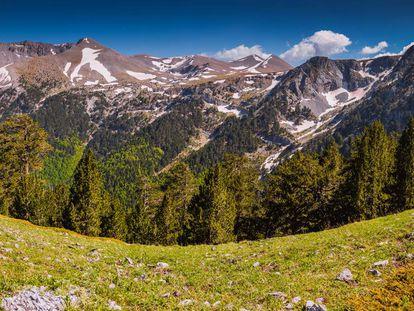 Imagen del Monte Olimpo, en Grecia.