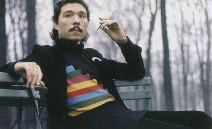 El ilustrador Antonio Lopez, fotografiado en París por Juan Ramos en 1971.