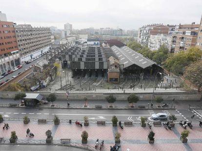 Las cocheras de Cuatro Caminos, primeras cocheras de metro de España.