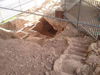 Acceso a la cueva de Qesem, yacimiento cercano a Tel Aviv.