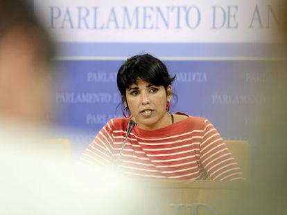 La secretaria general de Podemos Andalucía, Teresa Rodríguez.