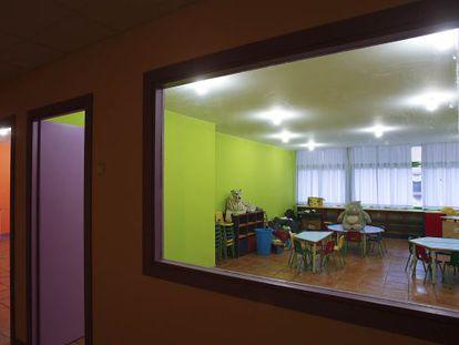 Una de las aulas de la guardería La Granota, propiedad de Joan Lluís Liste, en el Eixample.