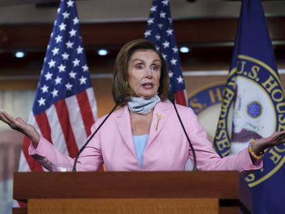 La presidenta de la Cámara de Representantes, la demócrata Nancy Pelosi, en el Capitolio.