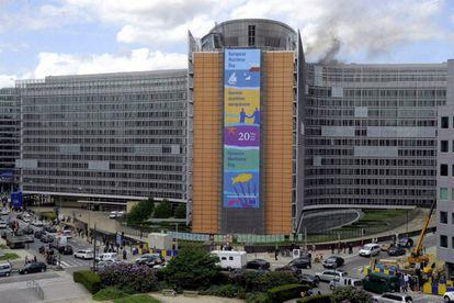 Fachada del edificio 'Berlaymont' de la Comisión Europea en Bruselas.
