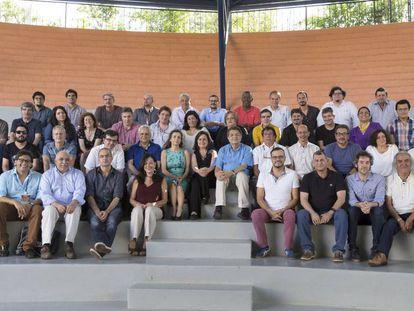 Autores asistentes a la edición de Centroamérica Cuenta de 2016, celebrada en Managua, Nicaragua.
