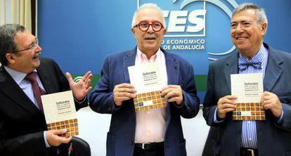Ángel Gallego, José Sánchez Maldonado y Manuel Ángel Martín.