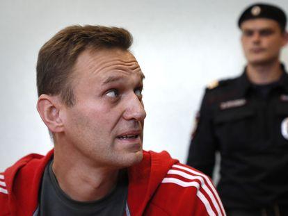 Navalni, en una vista judicial en agosto de 2019 en Moscú.
