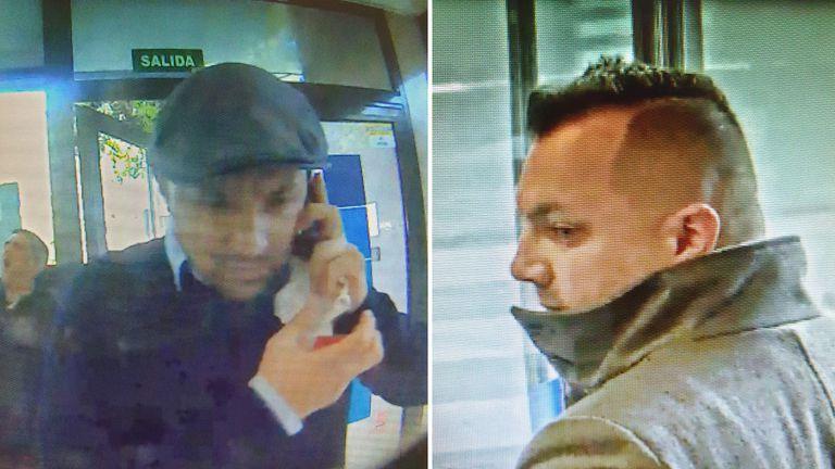 """Florim (dcha.) y Marius, detenidos por robar a personas mayores por el método de """"la siembra"""" y a los que la policía atribuye 54 sustracciones."""