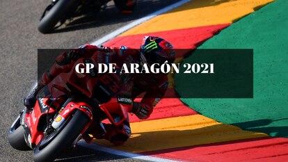 El piloto Francesco Bagnaia durante la clasificación del GP de Aragón de este fin de semana