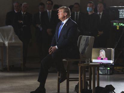 El presidente Donald Trump, en una entrevista con Fox News.