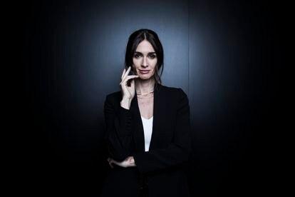La actriz Paz Vega posa en Atresmedia antes de la entrevista, el 5 de mayo.