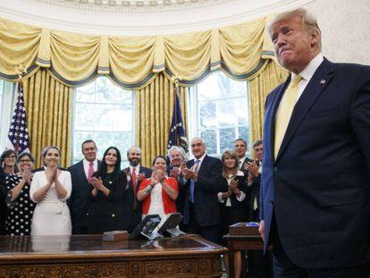Trump en el despacho oval el pasado miércoles.