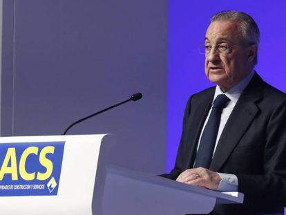 El presidente de ACS, Florentino Pérez, en una foto de archivo.