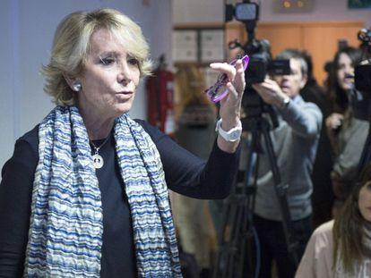 Aguirre, durante un momento de la rueda de prensa.