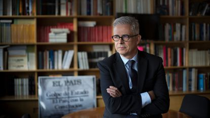 Javier Moreno en la Escuela de Periodismo UAM-EL PAÍS en 2017.